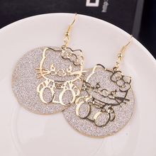 New diva hello Kitty Kitty frosted earrings, Europe and the United States joker earrings