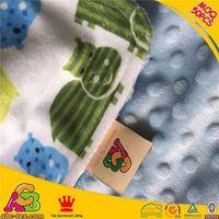 2015 fashion design MOQ10 pes like baby face micro plush minky blanket