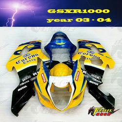 Best quality ABS Motorcycle Fairing kit for SUZUKI GSXR 1000 K3 03 04 05 2003 2004 2005