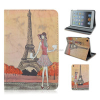 Slim Girm Tower PC+PU Leather Tablet Cover Case For Apple iPad 2/3/4,For ipad air,For ipad mini 1/2/3 That Can Flip Stand