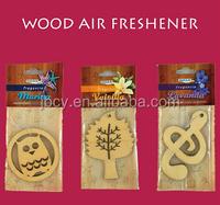 2016 die cut WOOD air freshener/freshner