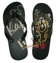 Factory Customized pvc strap beach style sole with logo Personalized Men Slippers