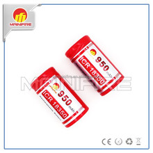 Special Lithium ICR 18350 950mAh rechargeable battery from mainifire /18350 battery