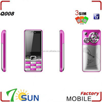 Q008 3 sim cards tv handphone