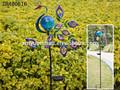 2015 Hot venta de decoración de pavo real con luz solar