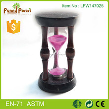 Wooden hourglass