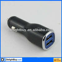 Dual USB Port Car Charger Adapter for iPad iPhone 4/3GS/3G/PSP MP4
