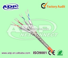 Indoor/outdoor double shielded twisted pair 23awg cat 7 ethernet cable