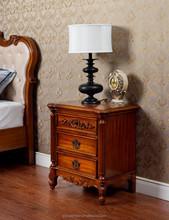 antique wood nightstand ,Luxury design wood nightstand high grade bedroom sets