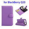 Hot Selling Litchi Texture Leather Case for BlackBerry Q20