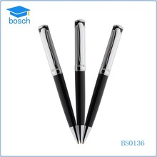 Black silver metal pen best ball point pen brands wholesale metal ball pens