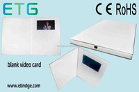 hot sale 4.3 inch LCD colour printed video brochure card