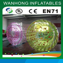 Durable inflatable hug water walking rollers for sale, large inflatable water roller for kids and adults, inflatable roller