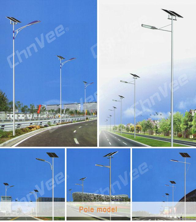 Aço Q235 HDG Poste de Luz Da Rua Poste de luz coluna de apoio