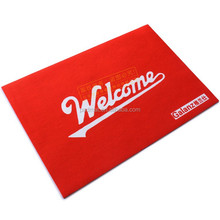 custom printed modern 100% eco-friendly natural rubber floor mat factory