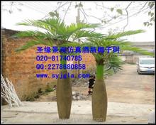 In fibra di vetro bottiglia albero di noce di cocco prezzo competitivo bottiglia artificiale coco albero/pianta artificiale per la decorazione