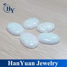 loose oval shape synthetic opal cabochon
