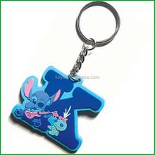 Customized Soft pvc alphabet keychains