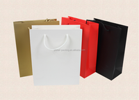 2015 Factory Custom Colorful luxury gift paper bag for shopping wtih samples free