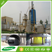 Waste recycling pyrolysis technology tire oil distillation plant to diesel & gasoline with vacuum fractionation
