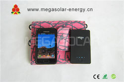 2013 pretty new 9W folding solar panel bag for charge your cellphone when you out side for trip; Model: MS-009FSC