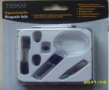 plastic pocket magnifier with screwdriver