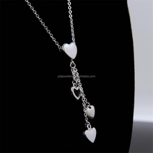 Hot sale latest design beads necklace with heart pendant