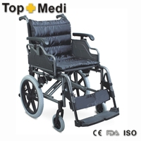Professional high quality aluminum transit wheelchair for elderly