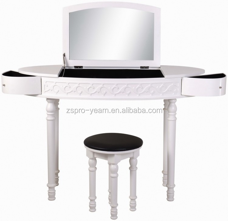 Moderne en bois maquillage commode coiffeuse avec miroirs for Coiffeuse moderne avec miroir