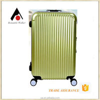 2015 new fashional aluminum frame trolley luggage and colorful trolley luggage 3 pcs for set with 4 wheels