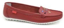 Nueva moda de cuero mujeres los zapatos del barco plana zapatos para mujeres