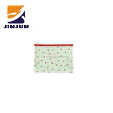 Transparent printing PVC zipper documents pouch