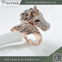 Gold Finger Military Ring Horse Rings Design For Women With Price Dubai Gold Jewelry R3668