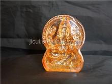 Crystal India elephant god golden colour