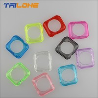 candy color transparent TPU case for apple i watch accessories
