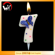 Number 7 birthday cake decorative number candle