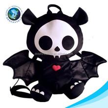 Helloween day black terror toy stuffed soft animal type plush toy bag school backpack cute custom traveling bag