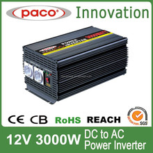 Modified Sine Wave Off-grid Power Inverter 3000W for Home Use with DC Cable Clips(Ring)