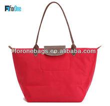 Promotional folding nylon foldable shopping cart bags