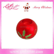 2016 luxury glass candle holder,delicate candle holder glass ornament,personalized red glass candle holder