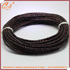 4mm braided genuine cow leather cord for necklace and bracelet