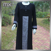 Special Design Long Black Maxi Dress Abaya Manufactures In UAE