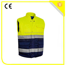Superior quality factory price quilted padding work vest