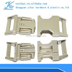 High quality Side Release Buckles metal buckle for handbags metal dog clasp