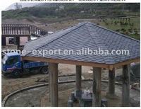 Drilled hole black natural roofing slate