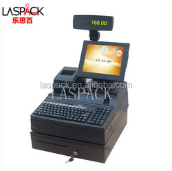 Retail or restaurant POS therminal with cash drawer ,keyboard, receipt printer