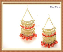 Happy Price Most Popular Bead Gold Earring