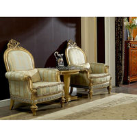 0029 European luxury home furniture palace furniture wooden lounge chair