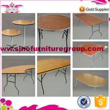 Brand new Qingdao Sinofur long banquet table with metal leg