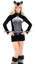 ML5348 Tres pedazos de las mujeres de lujo del traje del mapache disfraces de animales para adultos